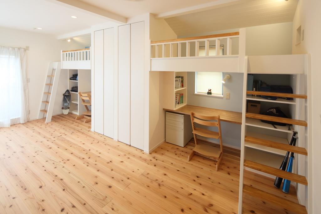 戸建て 間取り変更 のリフォーム施工事例明るく楽しい子供部屋の完成